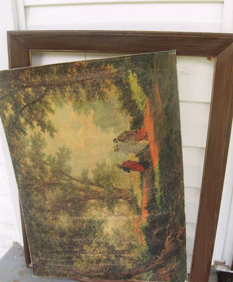 badly framed painting