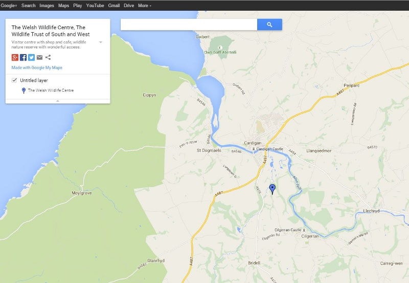wildlife centre cilgerran map