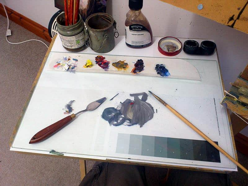 Cleaning Oil Paint Off Palette