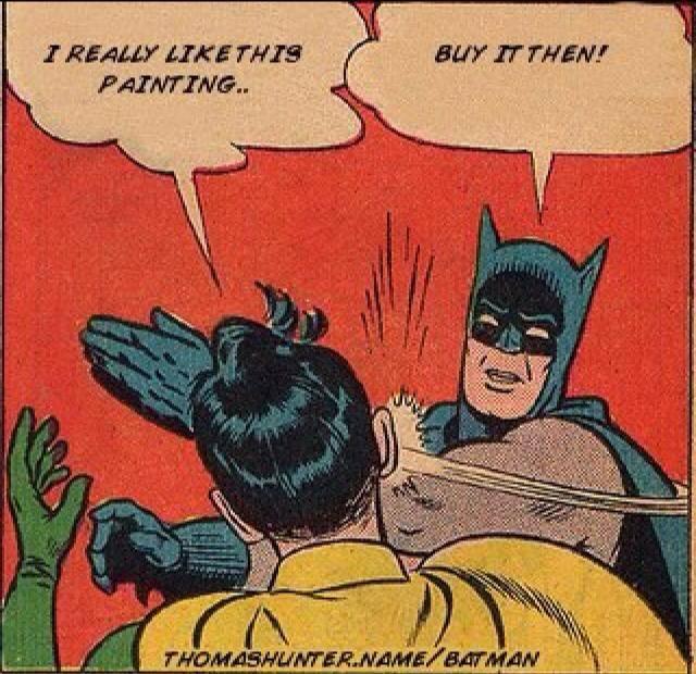 funny batman art meme
