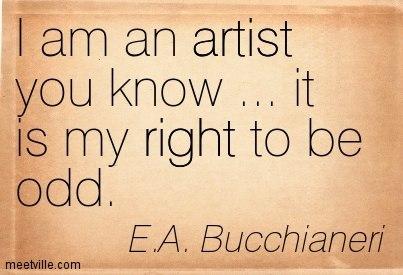 E A Bucchianeri artist quote