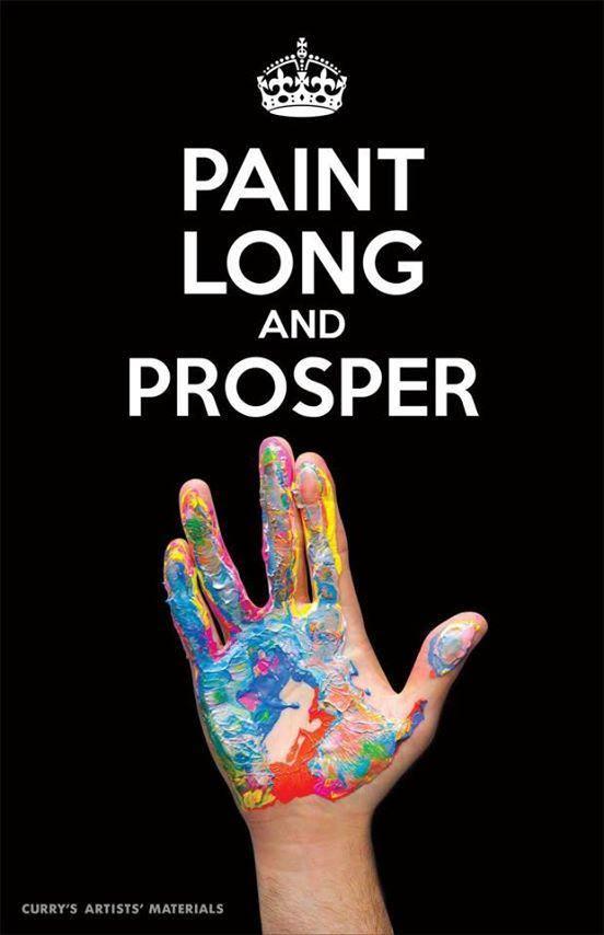 paint long and prosper star trek art
