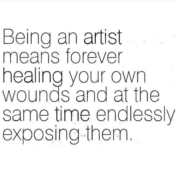 art quote in an image