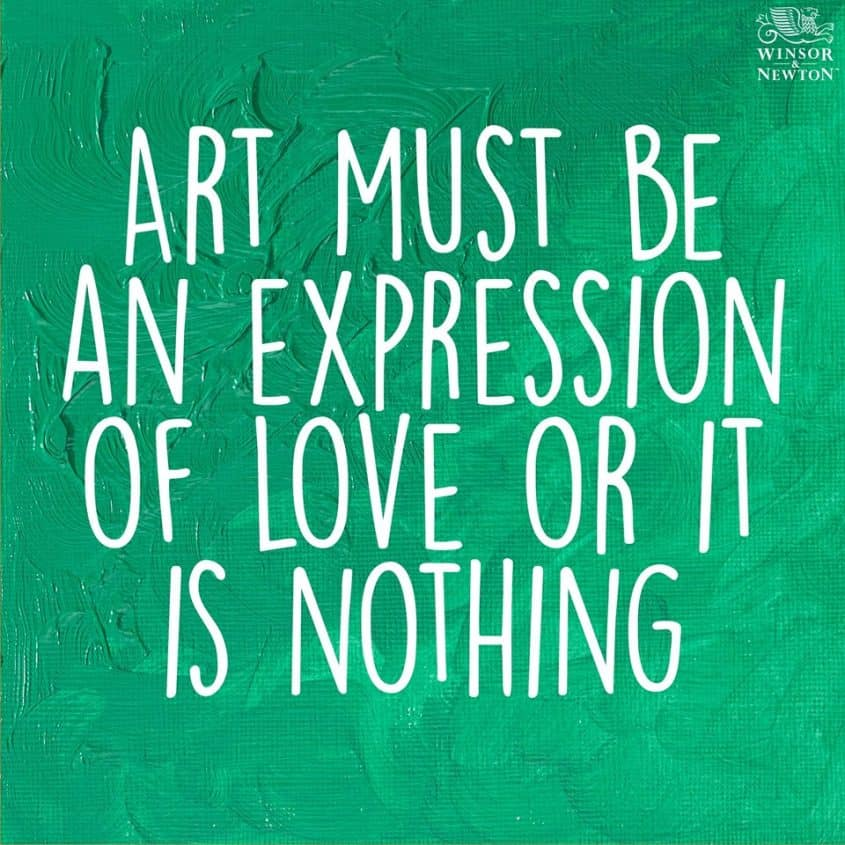 art must be the expression of love image