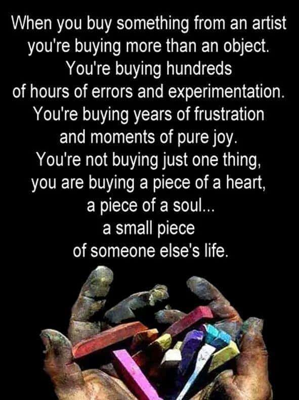 thought provoking art quote image