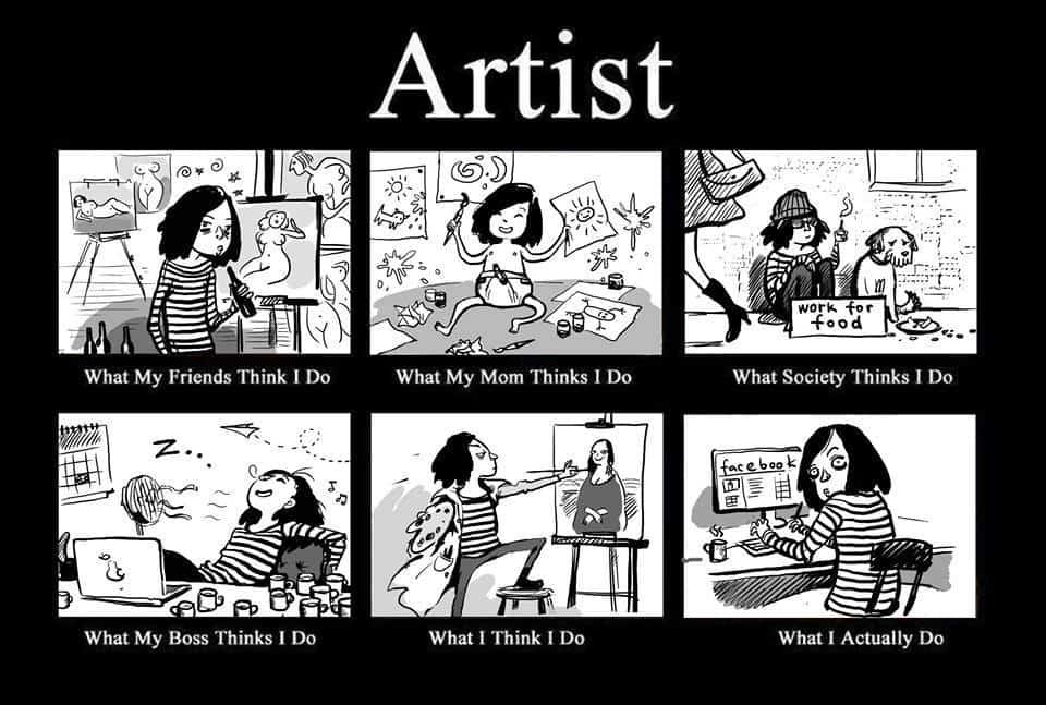 Funny Artist Cartoon