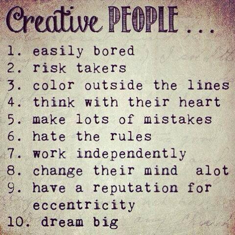 creative people list of qualities