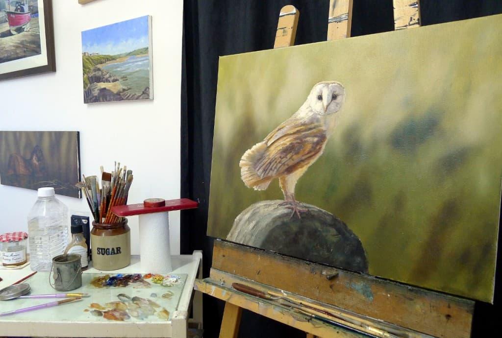 Barn Owl painting UK