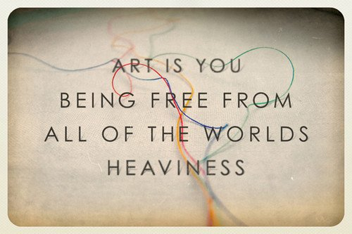 art is being free from the world