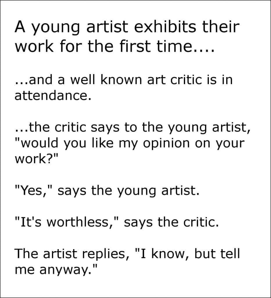 art student versus art critic