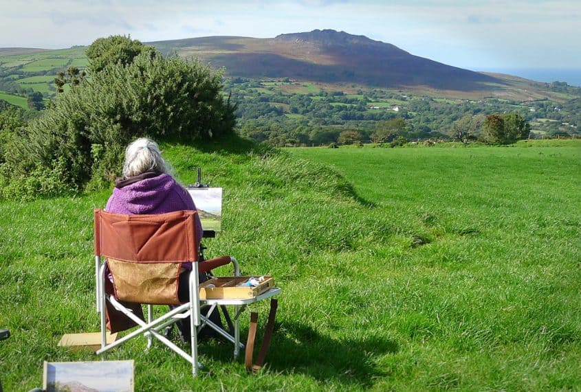 painting outdoors west wales