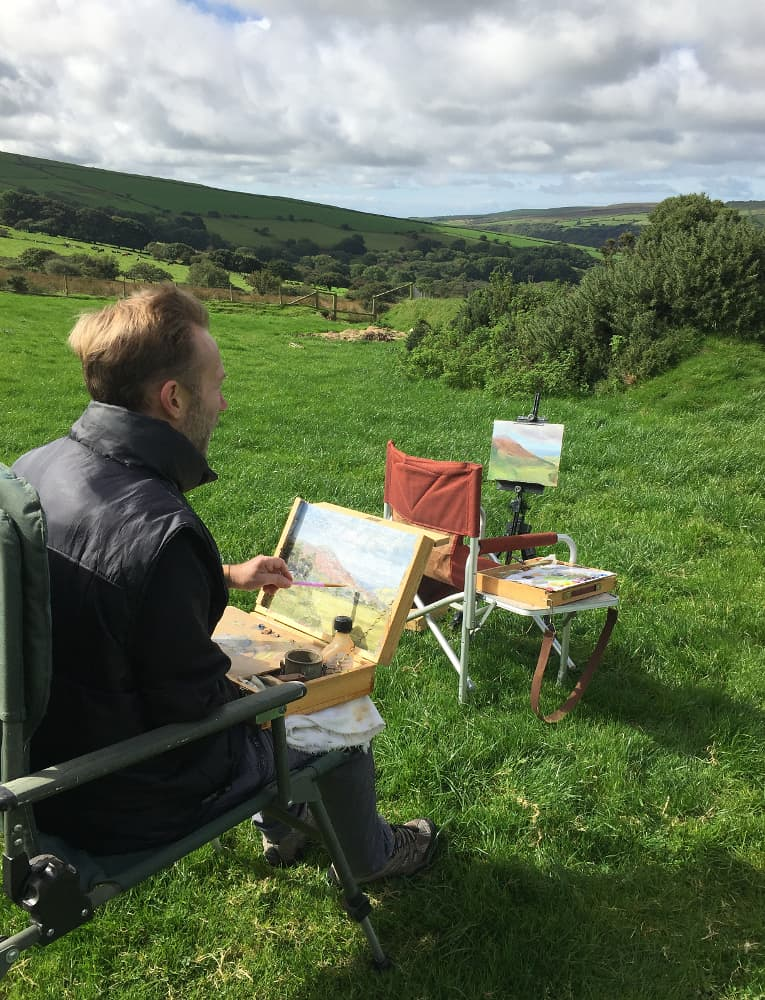 painting outdoors in Wales