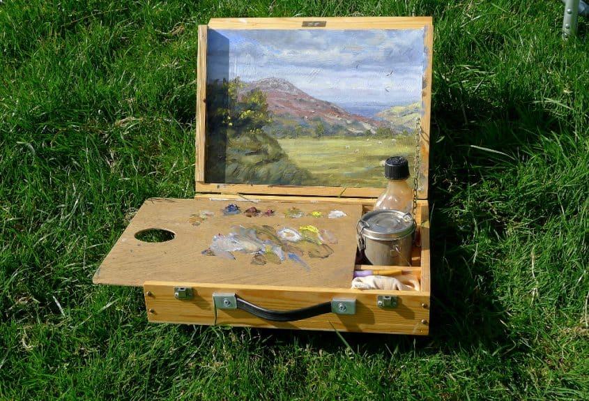 pochade box painting outdoors