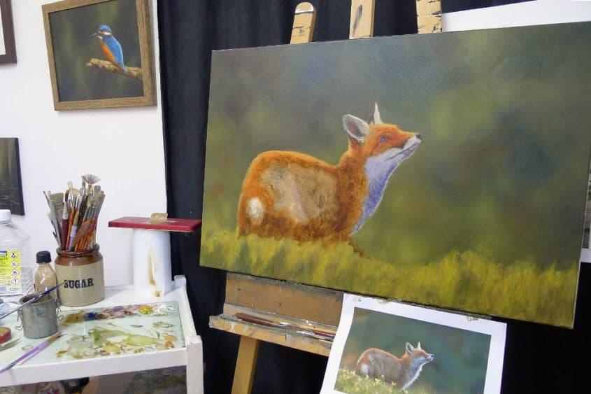 fox painting work in progress 2