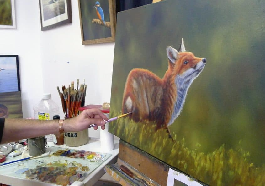 fox painting work in progress 5