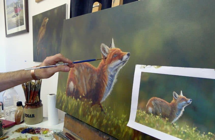 fox painting work in progress 6