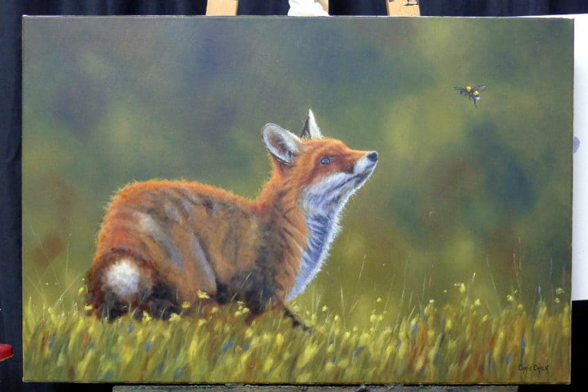 fox painting in oils