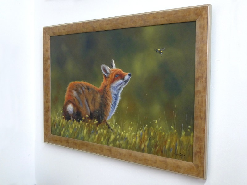 fox painting hanging on wall