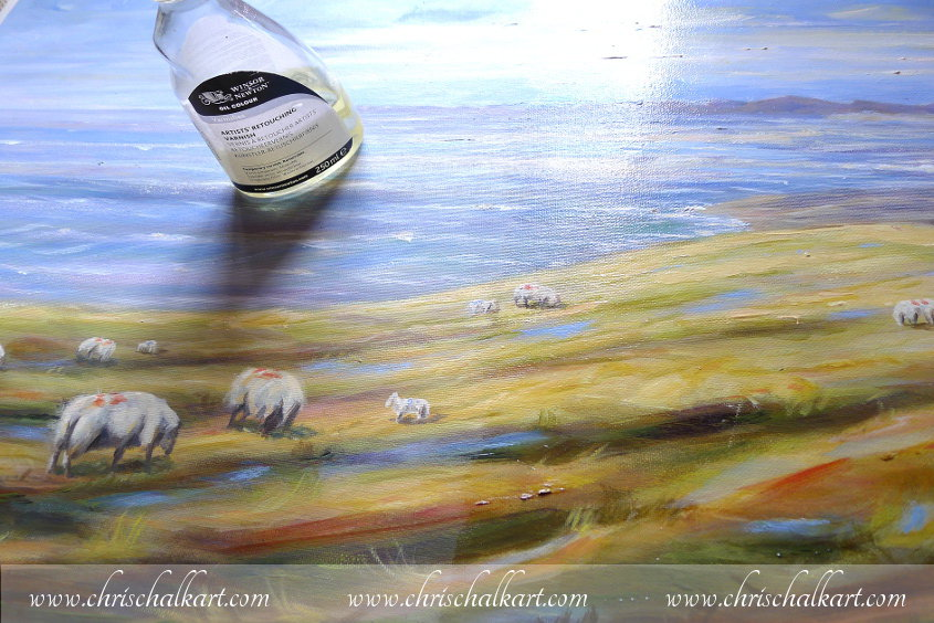 the difference between a varnished and unvarnished painting