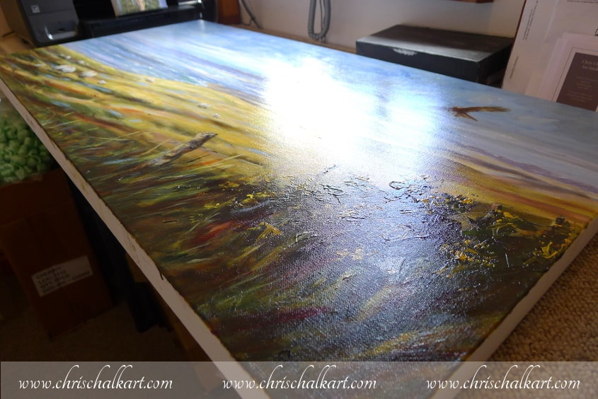 varnished oil painting