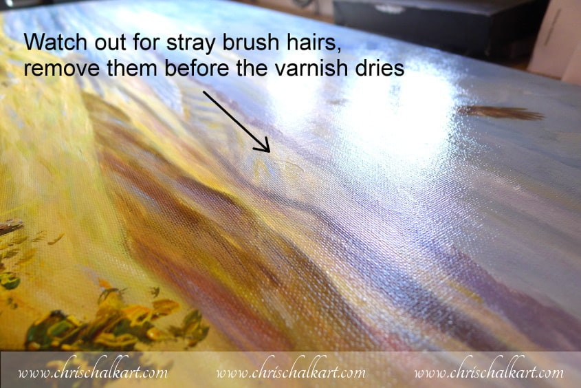 varnished painting
