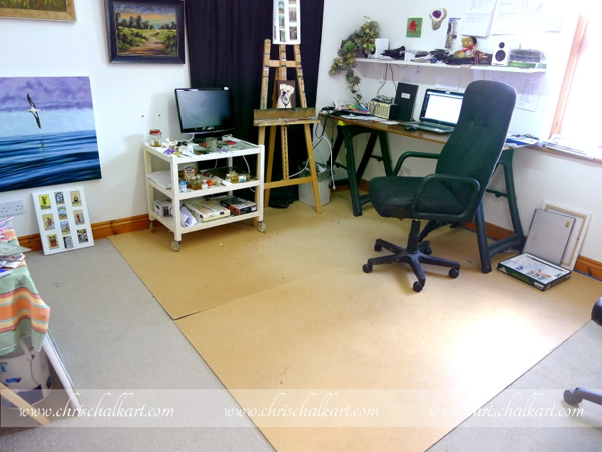 Painting Trips Chris Chalk Art Studio - How to cover carpet with flooring