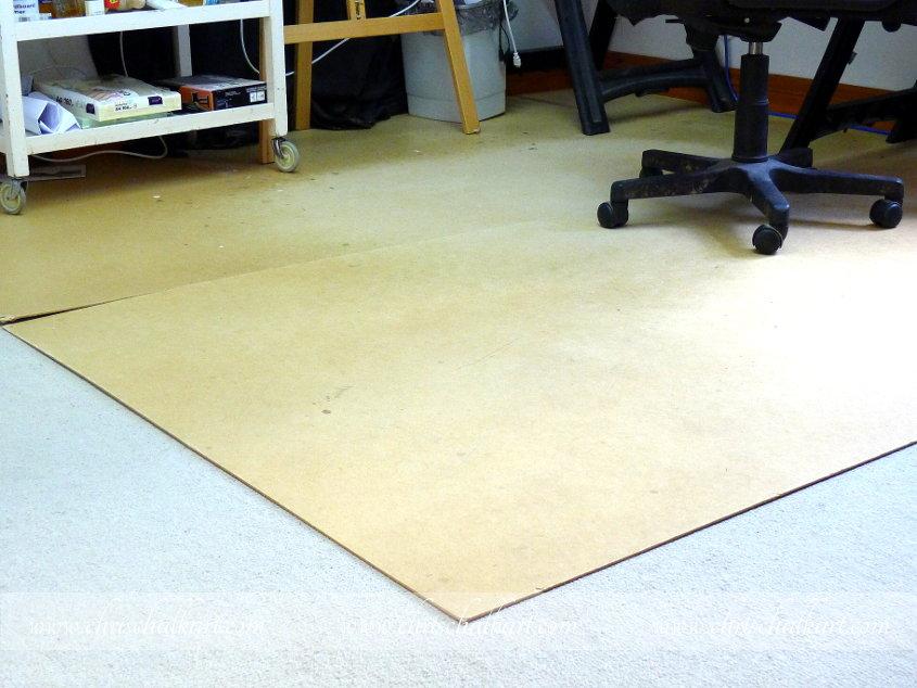 carpet tacks in floor