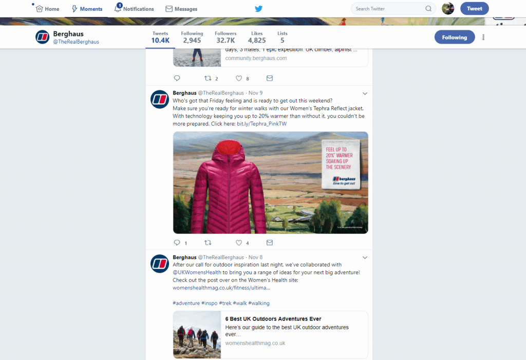 Berghaus twitter artwork