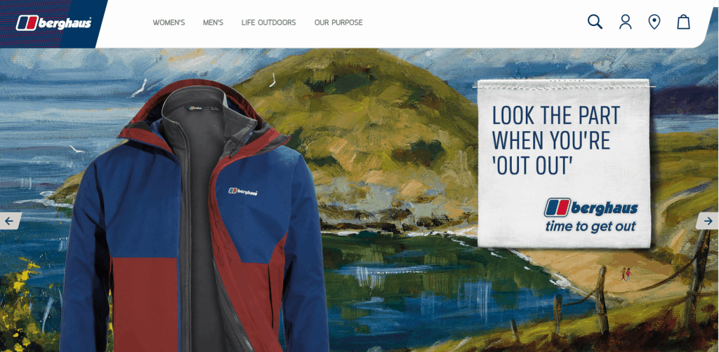 Berghaus website art