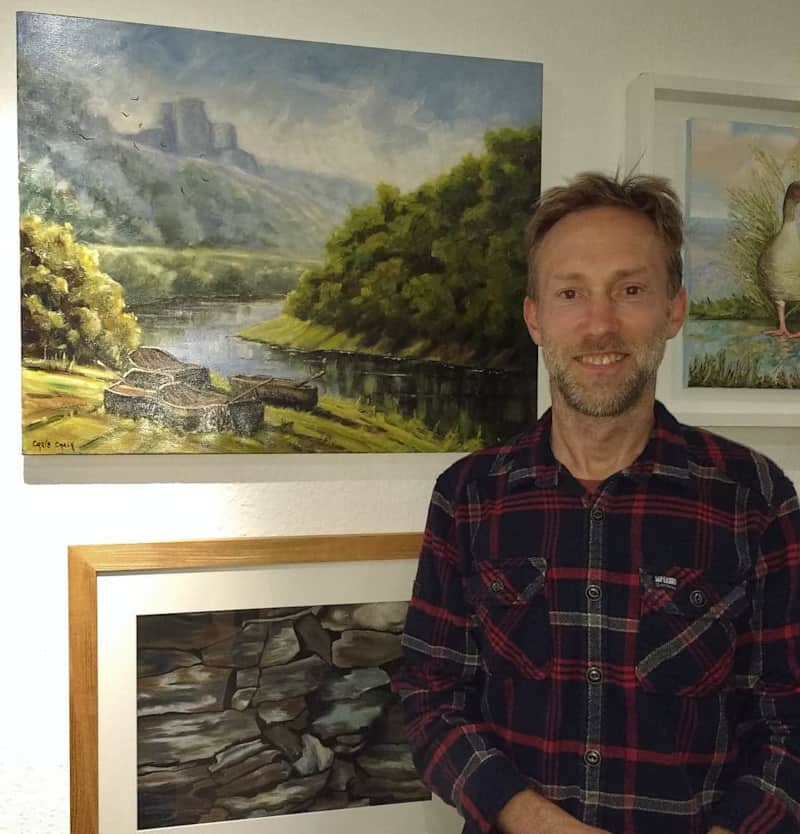 Chris Chalk at the Albion art Exhibition in Cardigan at studio 3