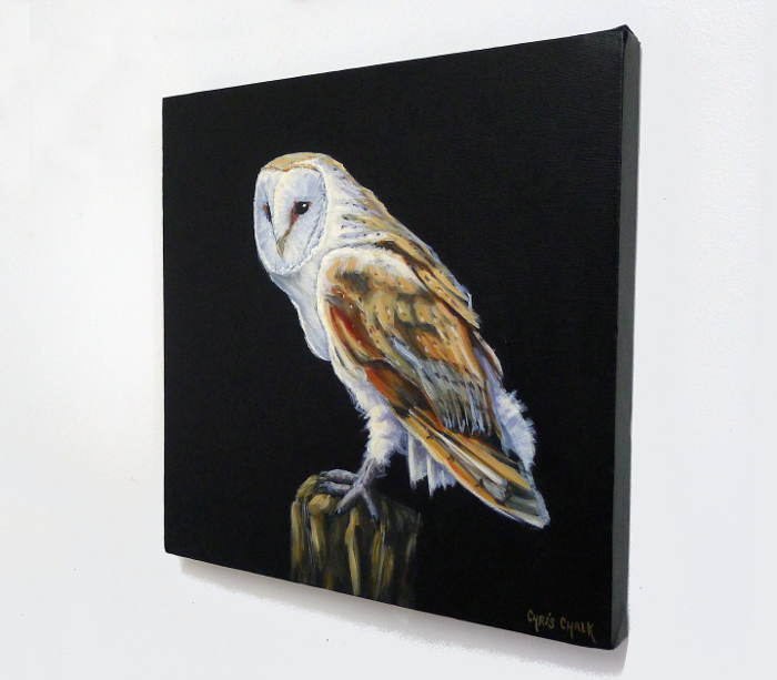Barn Owl Painting Hanging On The Wall