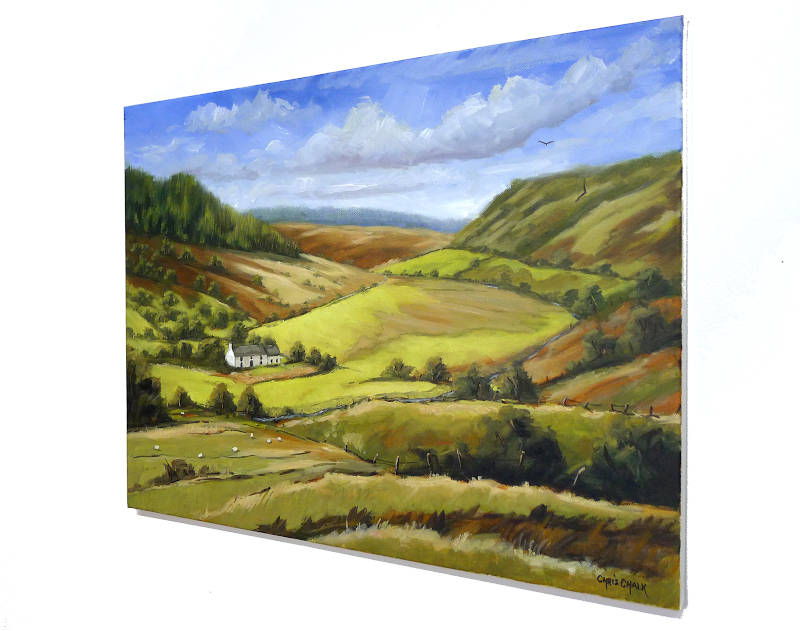 Cambrian Mountains painting, Mid Wales