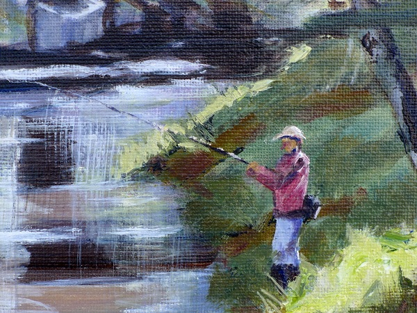 Cenarth painting close up one