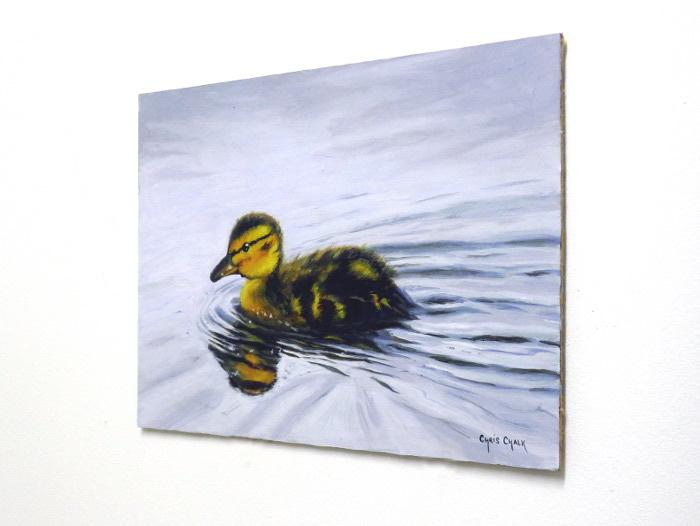 duckling painting on wall