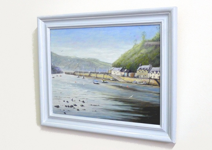 Fishguard painting framed