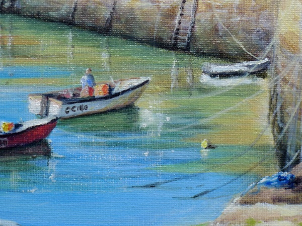 Fishguard painting close up one