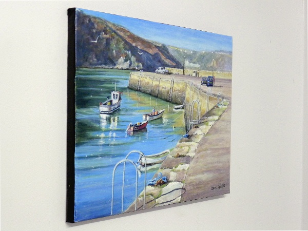 Fishguard painting close up two