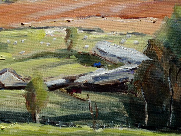 Preseli painting close up one