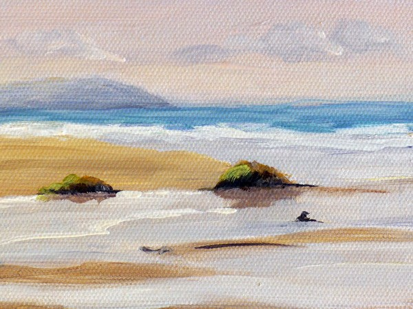 Freshwater West painting close up one