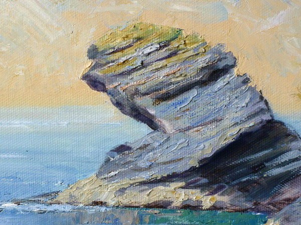 Llangrannog painting close up one