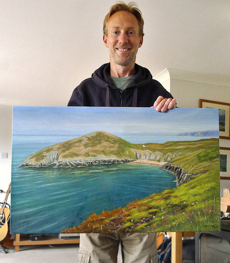 Mwnt oil painting