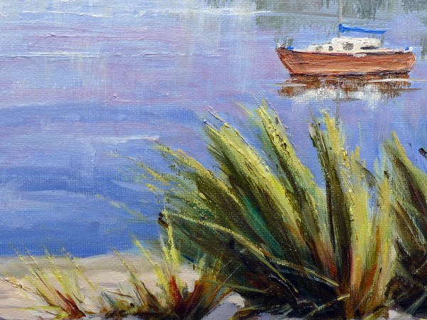 Newport Pembs painting close up one