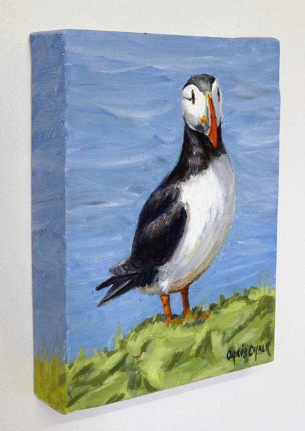 Small Puffin painting