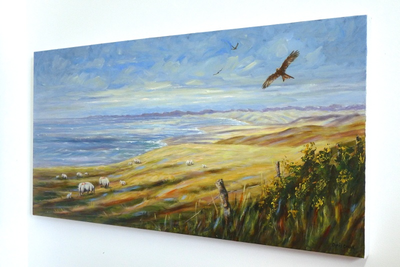 Red Kite painting hanging on the wall