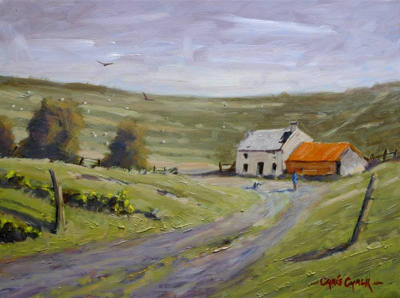 Welsh abandoned farmhouse painting
