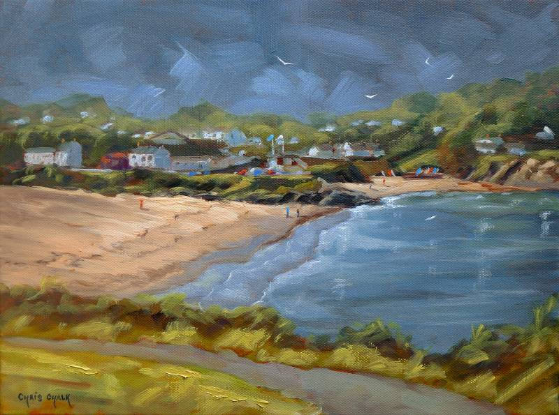 Painting of Aberporth Beach, Ceredigion