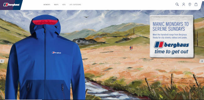 Berghaus clothing company painting