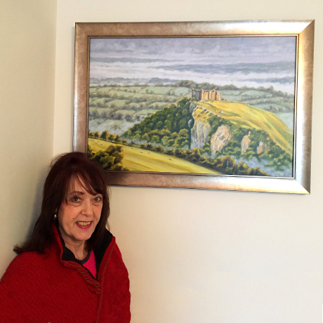 carreg cennen castle painting