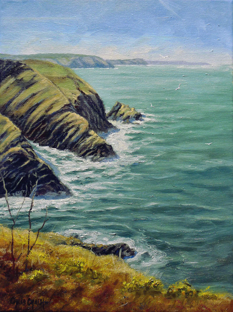 Ceibwr Bay Painting