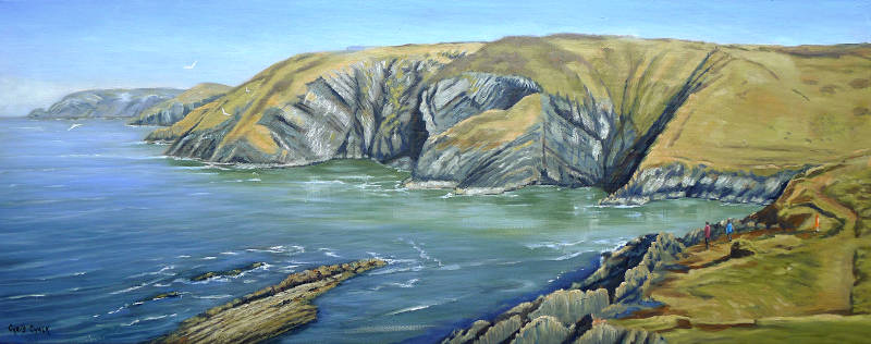 Painting of Ceibwr Bay